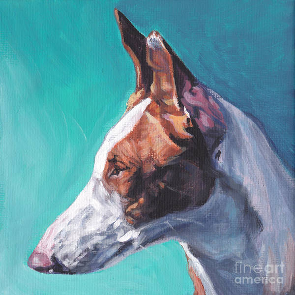 Wall Art - Painting - Smooth Ibizan Hound by Lee Ann Shepard