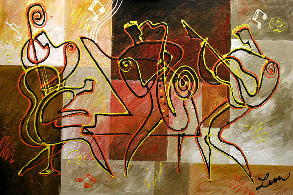 Modal Jazz Wall Art - Painting - Smooth Jazz And You by Leon Zernitsky