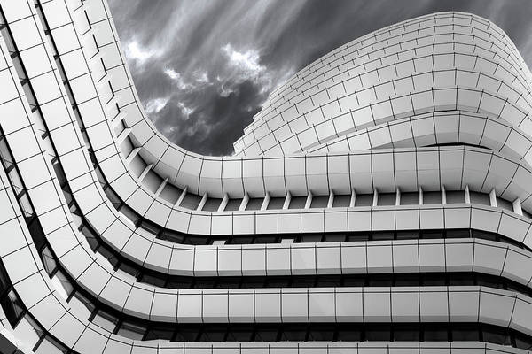 Facade Photograph - Smooth Lines Going Up. by Greetje Van Son