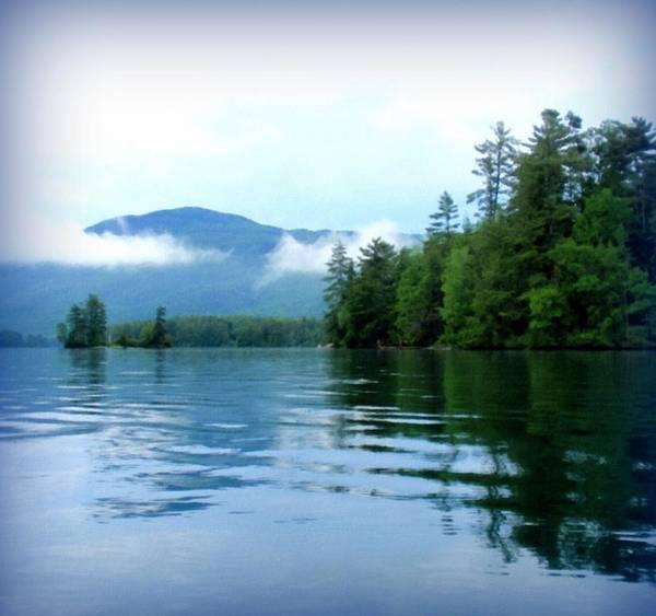 Adirondack Mountains Painting - Smooth Paddling by Linda Seifried