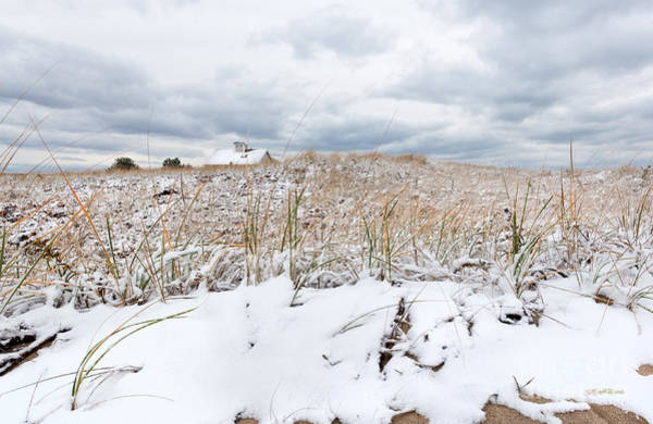 Photograph - Smuggler's Beach Snow Cape Cod by Michelle Constantine