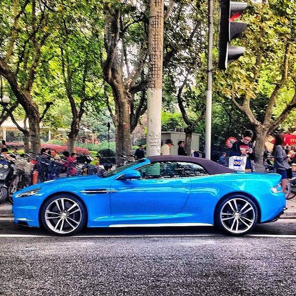 Aston Martin Photograph - #smurfs by Philippe Maurice