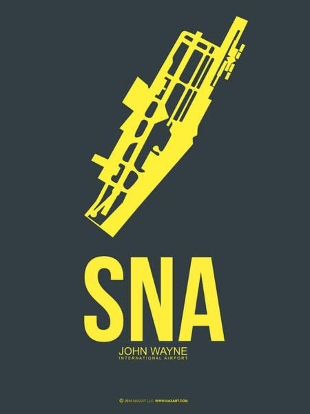 Orange County Digital Art - Sna Orange County Airport Poster 3 by Naxart Studio