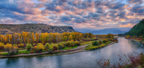 Photograph - Snake River Autumn Sunrise Panorama by Greg Norrell