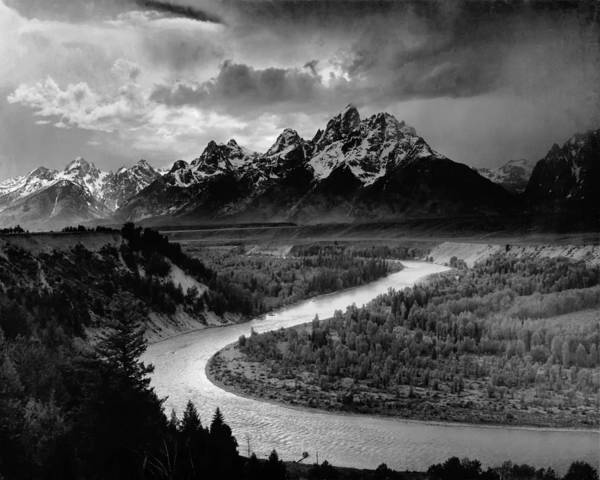 Snake Mountain Wall Art - Photograph - Snake River In The Tetons - 1930s by Mountain Dreams