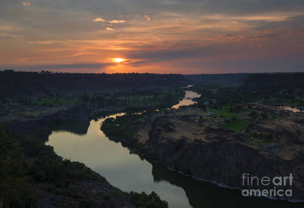 Twins Photograph - Snake River Sunset by Mike  Dawson