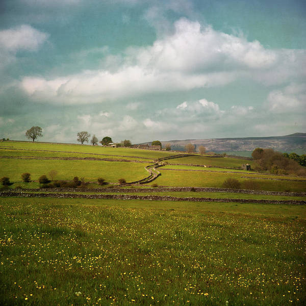 Peak District National Park Photograph - Snaking Road Through Spring Fields by Paul Grand Image