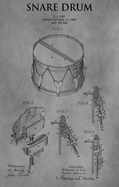Drawing - Snare Drum by Dan Sproul