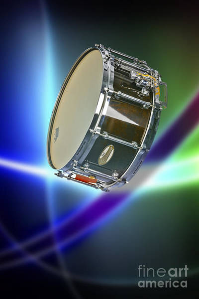 Photograph - Snare Drum For Drum Set In Color 3238.02 by M K Miller