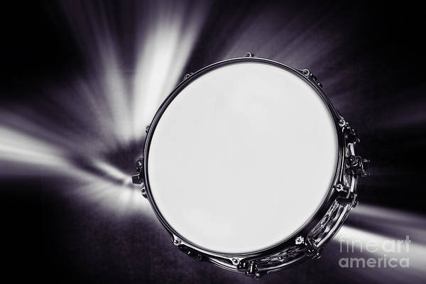 Photograph - Snare Drum For Drum Set In Sepia 3247.01 by M K Miller