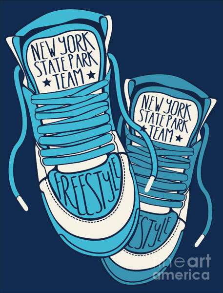 Clothing Wall Art - Digital Art - Sneakers Graphic Design For Tee by Braingraph