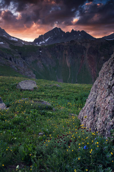 Silverton Photograph - Sneffels Sunset On Kings Crown by Mike Berenson