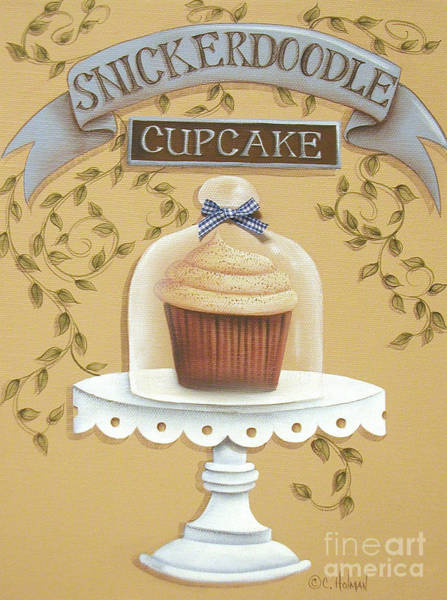 Holman Wall Art - Painting - Snickerdoodle Cupcake by Catherine Holman
