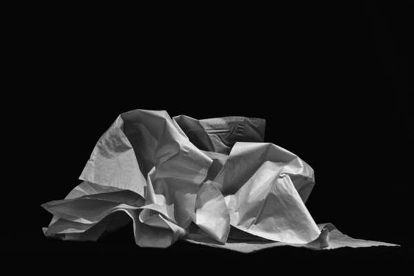 Tissue Paper Photograph - Sniffles by Andrew Wohl