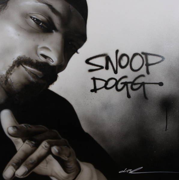 Monochrome Painting - Snoop Dogg by Christian Chapman Art