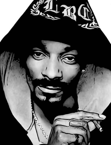 Wall Art - Digital Art - Snoop Dogg by Dan Sproul