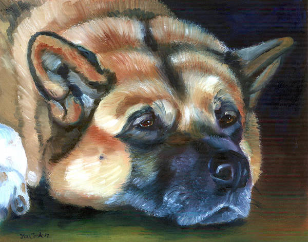 Wall Art - Painting - Snooze by Lyn Cook