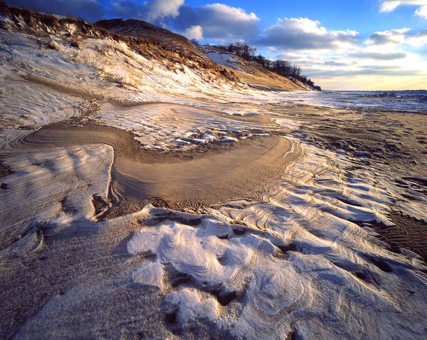 Photograph - Snow And Sand Mosaic by Ray Mathis