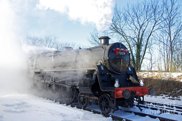 Photograph - Snow And Steam by David Birchall