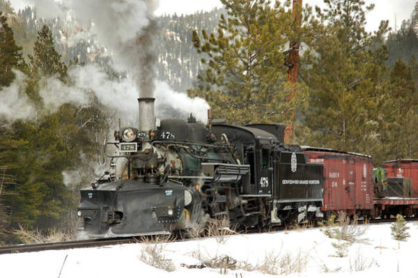 K-28 Photograph - Snow And Steam by Ken Smith