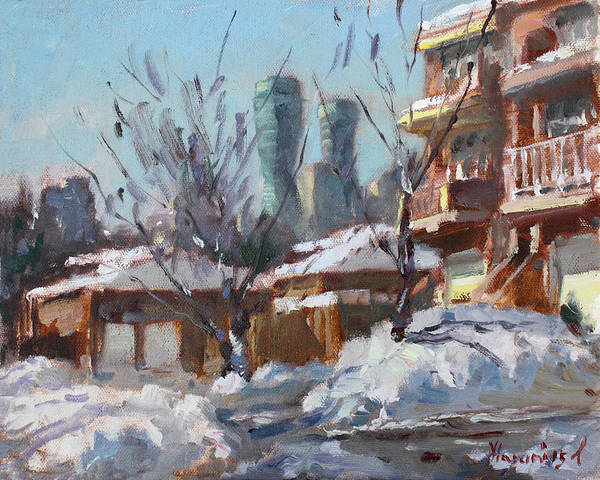 Toronto Painting - Snow And Sun by Ylli Haruni