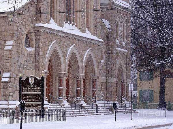 Photograph - Snow At St. John's by Christopher Plummer