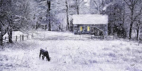 Snow Fence Digital Art - Snow At Sturbridge Village by Michael Petrizzo