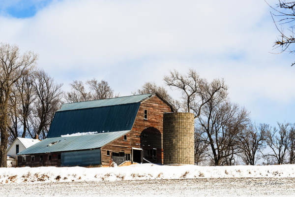 Photograph - Snow Barn by Edward Peterson