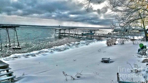 Photograph - Snow Beach by William Norton