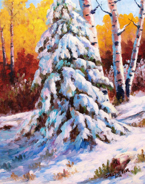Wall Art - Painting - Snow Blanket by David G Paul