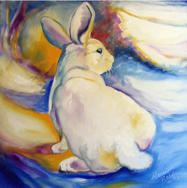 Painting - Snow Bunny 09 by Marcia Baldwin