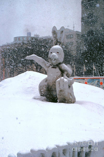 Ice Carving Photograph - Snow Bunny by Bob Phillips