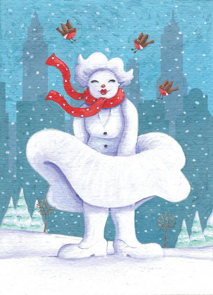 Snowman Photograph - Snow Business Marilyn by MGL Meiklejohn Graphics Licensing