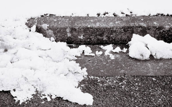 Wall Art - Photograph - Snow By The Kerb by Tom Gowanlock