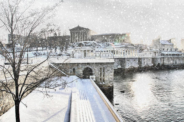 Photograph - Snow By The Water by Alice Gipson