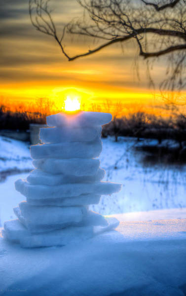 Photograph - Snow Candle - North Of Chicago 1-8-14 by Michael  Bennett