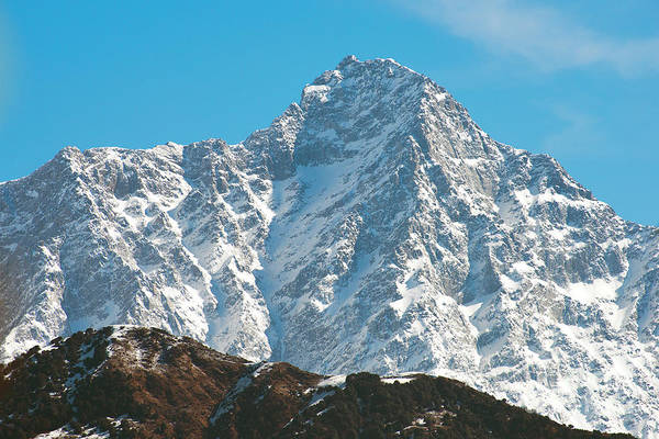 Photograph - Snow Capped Dhauladhar Peak by Yew Kwang