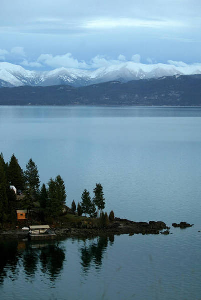 Swan Boats Photograph - Snow Capped Peaks With Flathead Lake by Craig Moore
