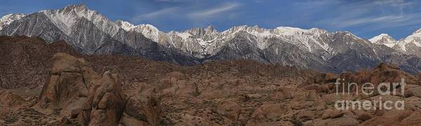 Photograph - Snow Caps Above The Alabama Hills by Adam Jewell