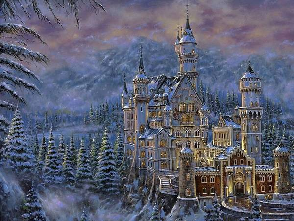 Ming Tree Painting - Snow Castles by Ming Chen