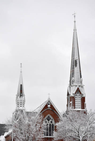 Photograph - Snow Covered Church by Staci Bigelow