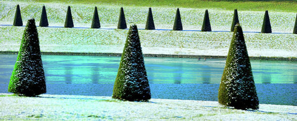 Versailles Wall Art - Photograph - Snow Covered Garden by Martial Colomb