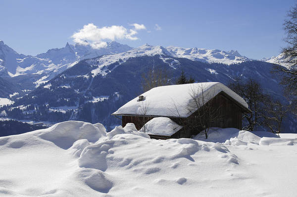 Photograph - Snow-covered House In The Mountains In Winter by Matthias Hauser