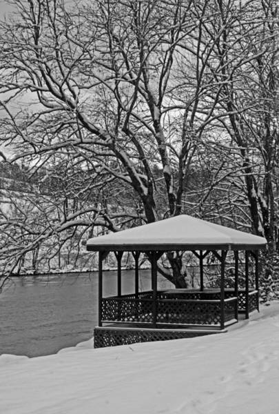 Photograph - Snow Covered In Bw by Jennifer Robin