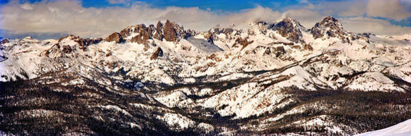 Minarets Photograph - Snow Covered Landscape, Mammoth Lakes by Panoramic Images