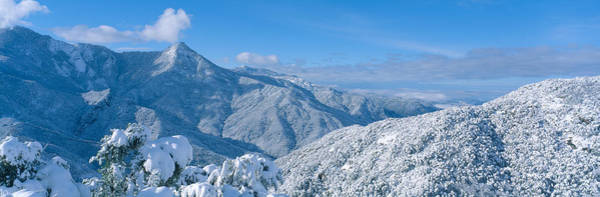 Escarpment Photograph - Snow-covered Mountains In Sequoia by Panoramic Images