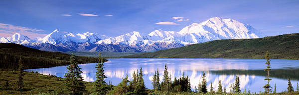 Evergreens Photograph - Snow Covered Mountains, Mountain Range by Panoramic Images