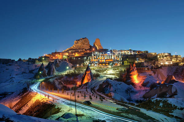 Nevsehir Photograph - Snow Covered Rock Formations Of by Izzet Keribar