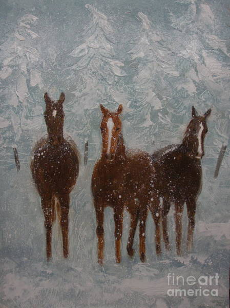 Painting - Snow Day by Sherri Anderson