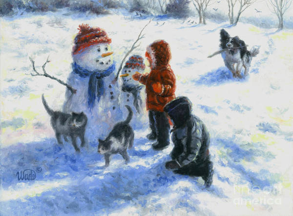 Wall Art - Painting - Snow Day by Vickie Wade